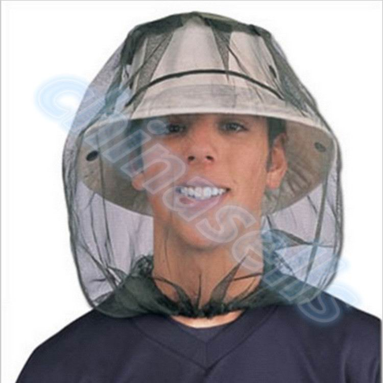 200pcs outdoor teaching Midge Bug fishing Camping Protector Hat Face Mesh Mosquito Head Insect Travel Mosquito
