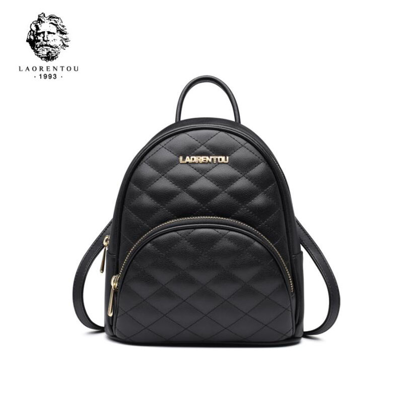 LAORENTOU 2019 New women Genuine Leather bags Lingge fashion Luxury tote real leather women backpackLAORENTOU 2019 New women Genuine Leather bags Lingge fashion Luxury tote real leather women backpack