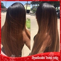 Heat Resistant Wigs Ombre Long Silky Straight 1b#/30# Synthetic Lace Front Wigs for Black Women can Middle/Side/Free Part