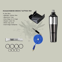 Original BRONC HUMMINGBIRD Rotary Swiss Motor RCA Tattoo Pen Machine Gun With 20PCS Cartridge Needles Supply BRT02#
