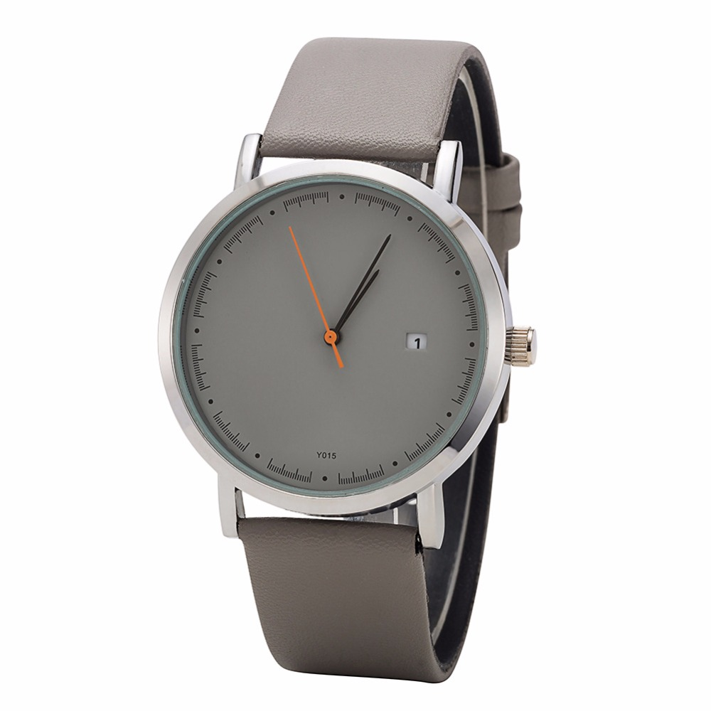 Bgg New simple style Leather Women Quartz Watches 2017 Luxury Top Brand ladies Casual Watch female dress Clock hours calendar new 2017 women men casual watch ladies leather luxury watches men sport quartz wristwatch female simple clock hours