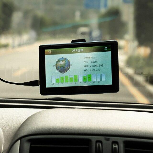 5 дюймов Высокой Четкости Сенсорный Экран Автомобильный GPS Навигации С FM Передачи 128 МБ Видеокарта 8 ГБ с Америкой Карте tk102b