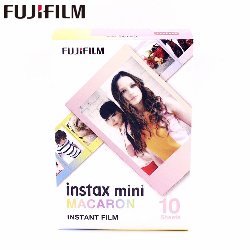 Fujifilm original Fuji Instax Mini 8 MACARON Película 10 hojas para 7 7s 8 9 50s 7s 90 25 Compartir SP-1 Instant Cameras Llegan nuevas