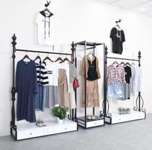Tieyi clothing store display rack men's and women's wear shop display floor shop wear