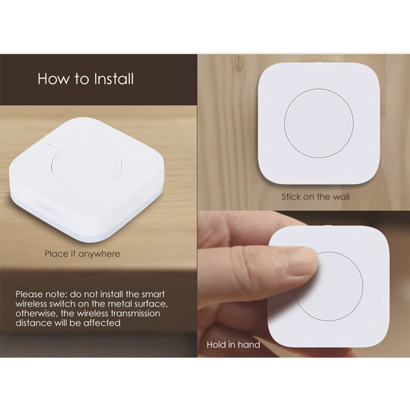 Image 5 - Xiaomi Mijia AQara Smart Multi Functional Intelligent Wireless Switch Key Built In Gyro Function Work With Android IOS APP-in Smart Remote Control from Consumer Electronics