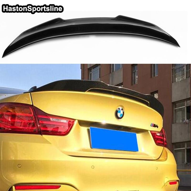 F36 Grand Coupe двери изменение psm Стиль углерода Волокно задний спойлер багажника автомобиль крыло для BMW F36 2014 2015 2016 2017