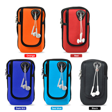 Sport Armband Running Flip Bag Case for iPhone Samsung Universal Smartphone Mobile Phone Earphone Holes Keys Arm Bags Pouch