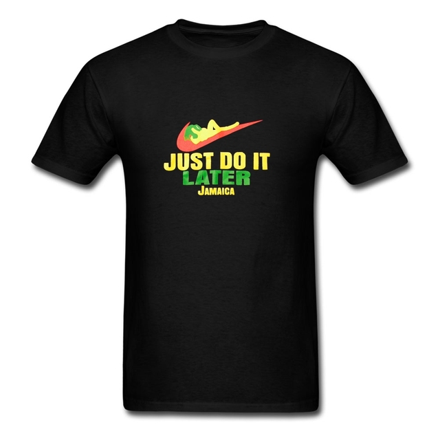 Nike Just do it Just Do It Later Jamaica Men TShirts Summer Short Sleeve Men T-Shirt Cotton  Fitness Tee Shirt Men Oversize O-Neck Brand Clothing