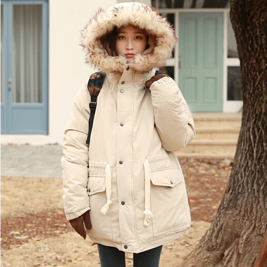 Winter Jackets 2017 Women Parka Jacket Female Medium Long Parka Warm Fur Hood Coat Casual Cotton Padded Jacket Abrigos Mujer women lady thicken warm winter coat hood parka overcoat long outwear jacket