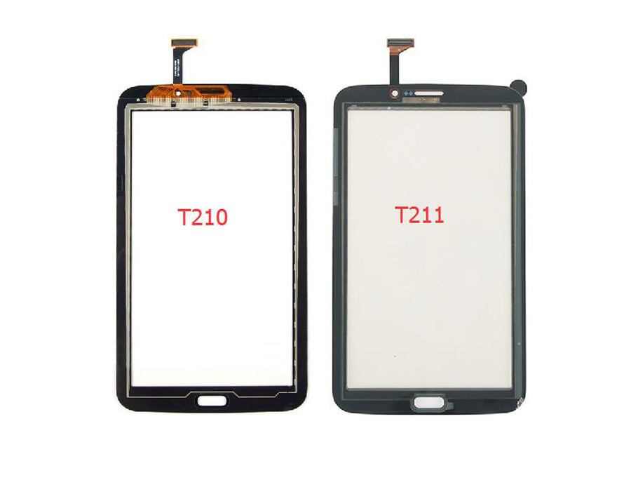100% Test Black / White For Samsung Galaxy Tab 3 7.0 SM-T210 T210 SM-T211 T211 Touch Screen Digitizer Panel Glass Sensor 7 inch new front touch screen panel digitizer outer glass sensor replacement for samsung galaxy tab 3 lite 7 0 t210