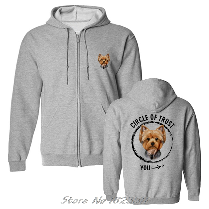 Sincere Men Fleece Pullover Print Funny Hoodie Cool Sweatshirt Circle Of Trust Papillion Gift For Dog Lover Jacket Tops Harajuku Men's Clothing