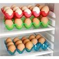 15 Grades De Armazenamento De Ovos Ovos Preservação Caixa Caso Recipiente Pode ser Empilhados Shatter-proof Caixa de Plástico da Bandeja do Ovo