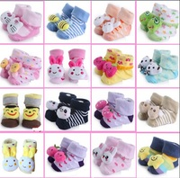 Newborn Socks 0-12month Baby Anti-slip Animal Sock for girls boys hose cute baby first walkers