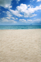 LIFE MAGIC BOX White Clouds Beach 150x200cm Custom Photo Backdrops Digital Backgrounds For Photography Beach Backdrop