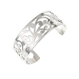 Image 3 - Legenstar Armreifen Für Frauen Edelstahl Armbänder Bijoux Manchette Femme Liebe Leder Manschette Armband Argent Pulseiras