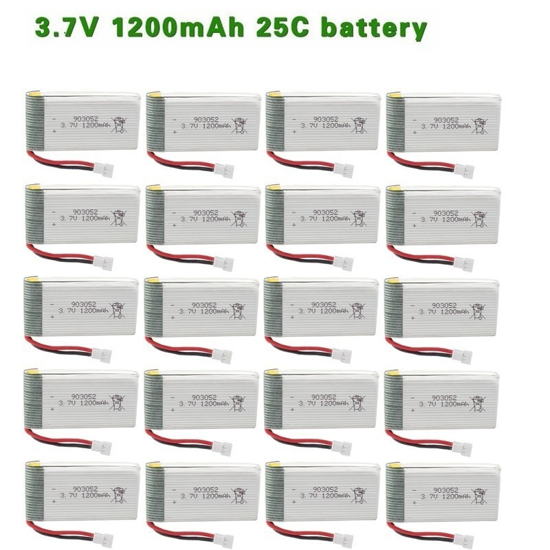 <font><b>3.7V</b></font> <font><b>1200mah</b></font> <font><b>Lipo</b></font> <font><b>Battery</b></font> For SYMA X5 X5C X5SC X5SH X5SW H11WH H11C HQ898B RC Quadcopter Spare Parts <font><b>3.7V</b></font> Drone <font><b>Battery</b></font> 20pcs image