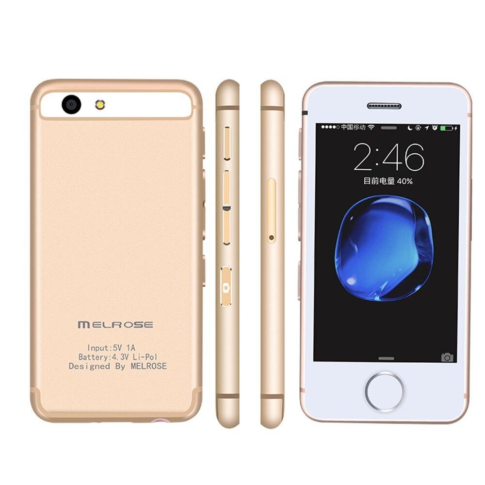Super Small 3G WCDMA Smart phone Melrose S9P Quad Core 1GB 8GB 1050mAh Telephone 5MP Android