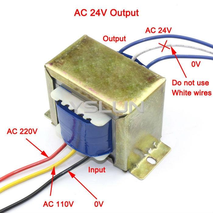 5 pcs lot ac step down transformer ac 110v 240v 220v to 24vac dual rh aliexpress com High Voltage Transformer Drawing 120 Single Phase to 220 3 Phase Step-Up Transformer