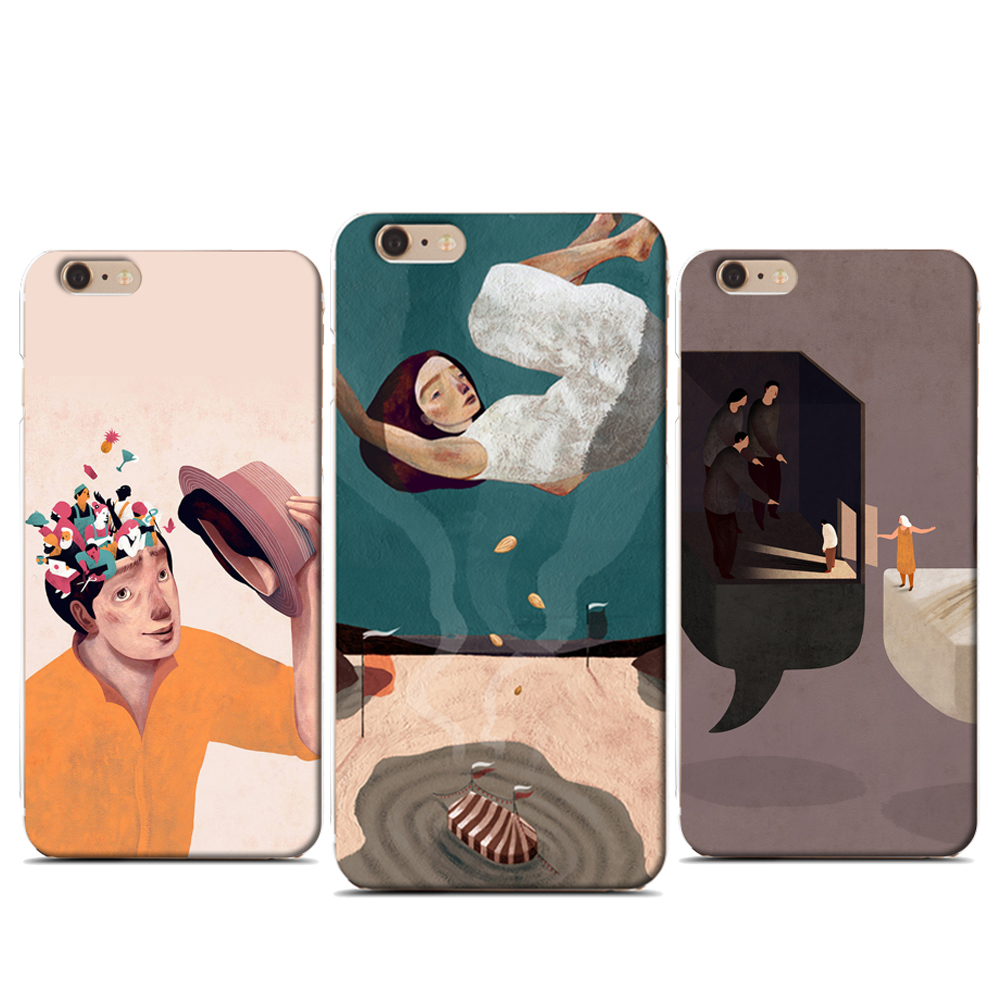 illustration art phone case for apple iphone 7plus 7 6plus 6s 6 5s 5 tpu soft silicone hard cover protective case
