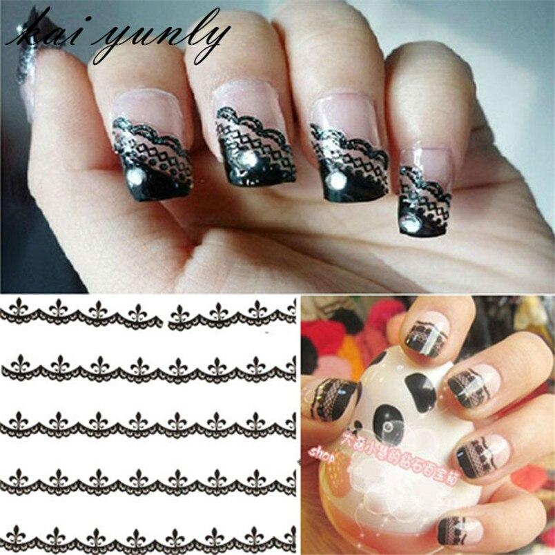 30PCS Lace Flowers Nail Art Accessories Tips Stickers Decals Decoration Adhesive Fingernails DIY Manicure Sep 30