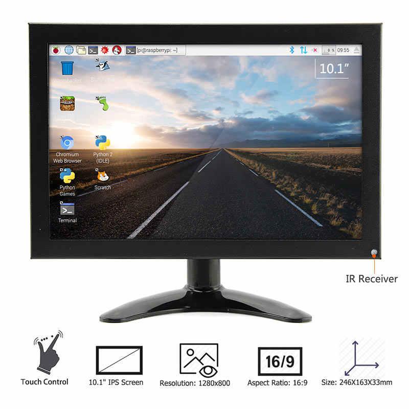Elecrow ラズベリーパイタッチスクリーン 10.1 インチディスプレイ IPS 液晶 1280 × 800 フル HD モニター TFT VGA 液晶 HDMI 内蔵 3 インチスピーカー