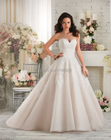 Free Shipping 2014 Top Lace Wedding Dresses Organza Bridal Gown Vestidos De Noiva Sweetheart Low Back