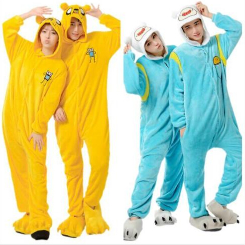 free pp Adventure Time With Finn And Jake Season 2 Adult onesie costume Women Men animal pajamas cosplay pyjama Jumpsuit party