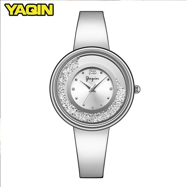 Nieuwe mode hoge kwaliteit luxe merk YAQIN vrouwen horloge roestvrij - Dameshorloges - Foto 2