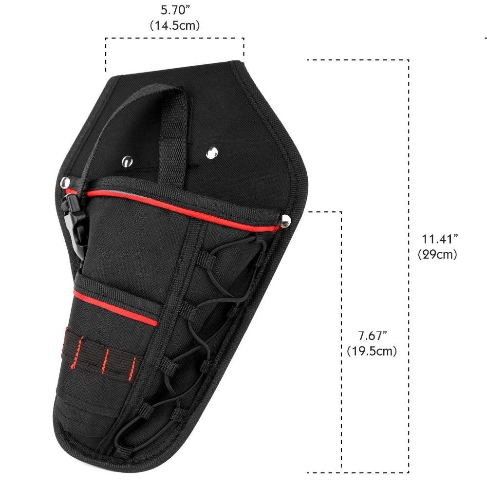 Details about  /Multi-functional Waterproof Drill Holster Waist Tool Bag Electric Waist Belt