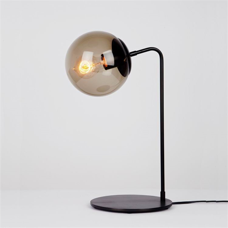 Amazing Black Metal Modern Glass Ball Table Lamp Bedroom Global Lampshades Nordic  Office Desktop Bedside Decorative Desk Lamp TLL 302 In Table Lamps From  Lights ...