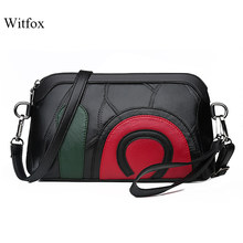 witfox 100% Genuine leather women Messenger Bags 2019 luxury sheep skin genuine leather shoulder bag ladies bags(China)