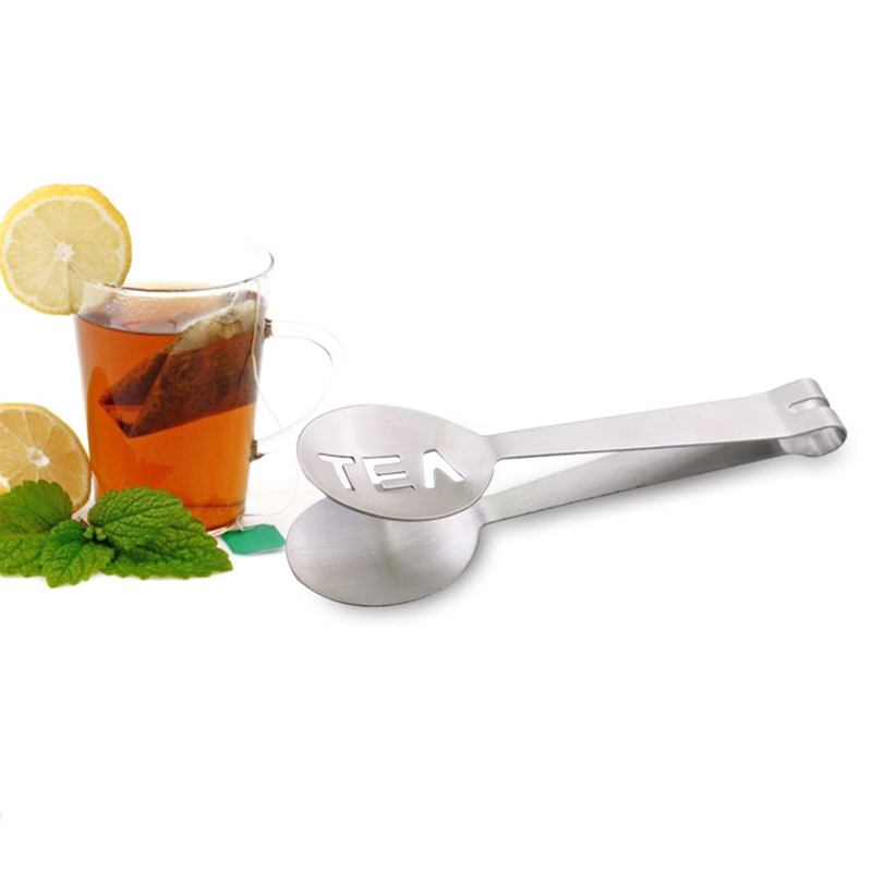Hot Teabag Squeezer Strainer Holder Grip Metal Spoon Mini Sugar Clip Tea Leaf Strainer Reusable Stainless Steel Tea Bag Tongs