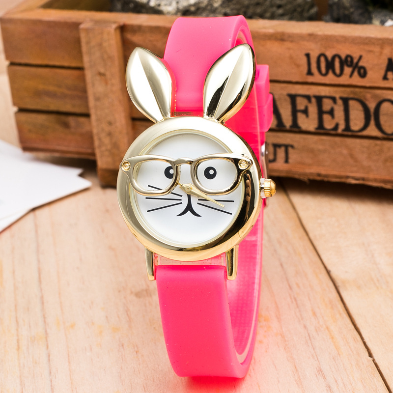 2019 Pink Lovely Silicone Children's Watches Cartoon Watches Girls Sport Watch Kids Quartz Wristwatches Student Gifts Waterproof