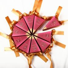 50pcs/lot Conical Shape Stitching Paper Candy Box Creative Personality Wedding Gift Birthday Cake