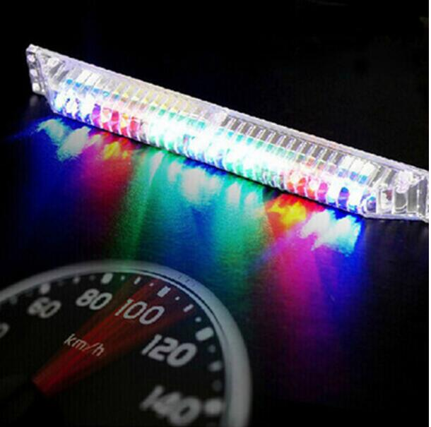 1PCS universal modes 11 flexible flashing solar power LED car knight rider lights for car warning lighting LED strips lights