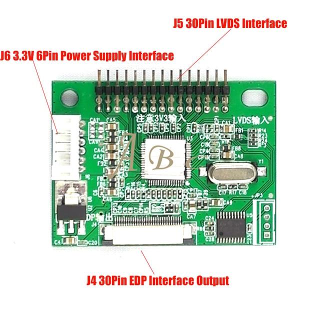 3.3ボルト30ピンlvdsターンにedp信号lcdコンバータ変換コントローラボード用1920 × 1080 p 1366 × 768 p edp lcd表示パネル