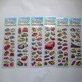 Оптовая продажа 20 шт./лот 3D коробки ПВС пузырь стикер Автомобиля наклейки для детей подарок на день рождения, партия пользу автомобиль укладки наклейки