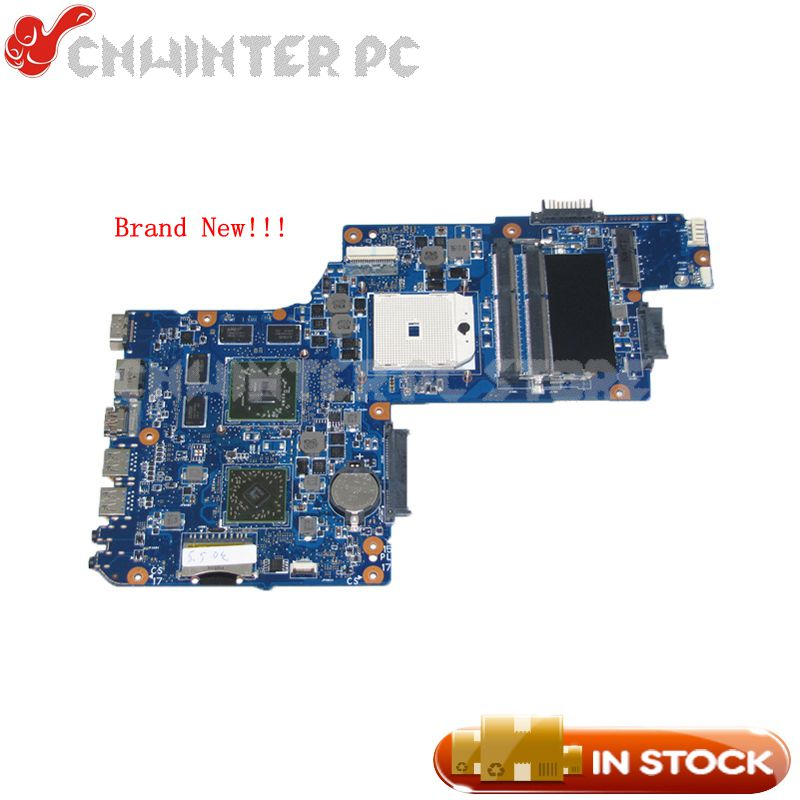 NOKOTION New H000050830 Main board For Toshiba Satellite L850D C850D Laptop Motherboard Socket fs1 DDR3 HD7670M gpu nokotion a000175380 laptop motherboard for toshiba satellite c840 l840 main board ati hd7670m graphics ddr3 daby3cmb8e0