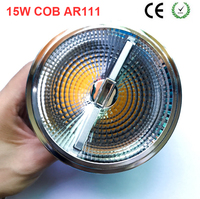 10PCS/Lot TUV ERP SAA CE RoHS Certify CREE Chip Dimmable 90ra 15W Retrofit LED AR111 Spotlight for Museum Lighting
