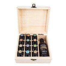 13 ячеек, деревянный держатель для эфирного масла 5 мл/10 мл/15 мл/115 мл, деревянный органайзер для ароматерапии, многофункциональный держатель