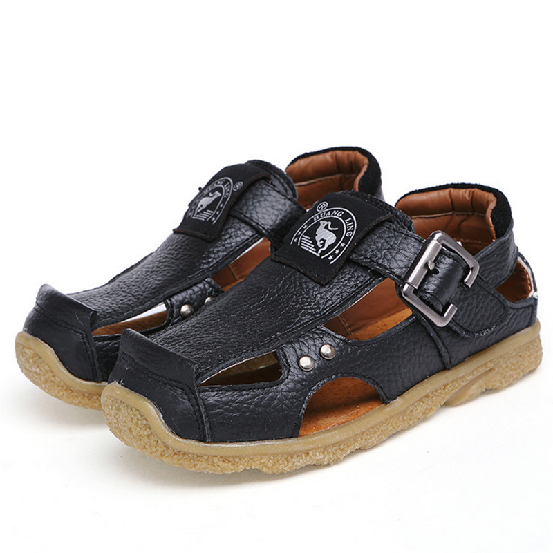 Genuine Leather 2017 Summer Kids Shoes Brand Closed Toe