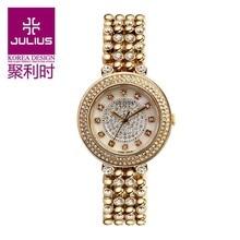 Леди наручные часы кварцевые женские оболочки мода платье браслет горный хрусталь кристалл Lux валентина девочка подарок юлий 821