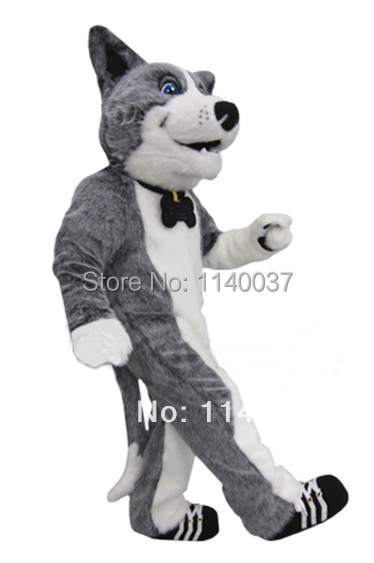 Mascotte haute qualité arbitre chien Huskie Husky mascotte Costume taille adulte gris Husky Cosply carnaval Costume Animal OutfitSuit