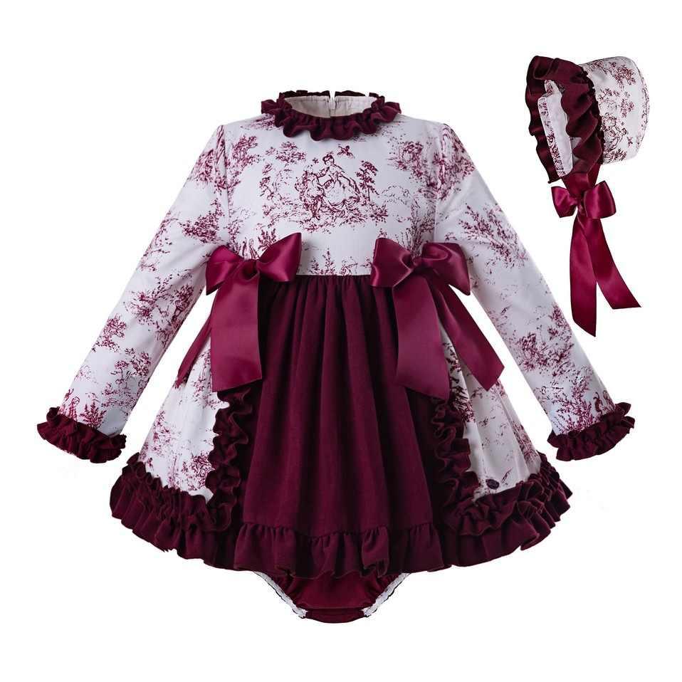 Pettigirl 2019 bebé chica vestido estampado de flores 3 piezas o-Cuello  vestido de boda 5a9d89f3da37