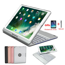 Baru 360 Berputar Paduan Aluminium Case untuk iPad Air 3 10.5 2019 Pro 10.5 Inci Colorful Backlight Bluetooth Keyboard Cover + Pen + Film(China)