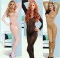 Big Plus Size meia calça de corpo inteiro peluches Unisex Bodysuits abrir Crotch Stocking apertado veludo transparente Lingerie erótica FX26
