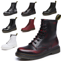 2017 Marten Female Genuine High Top Boots Heels Martin Male Women 39 S Ankle Boots Leather