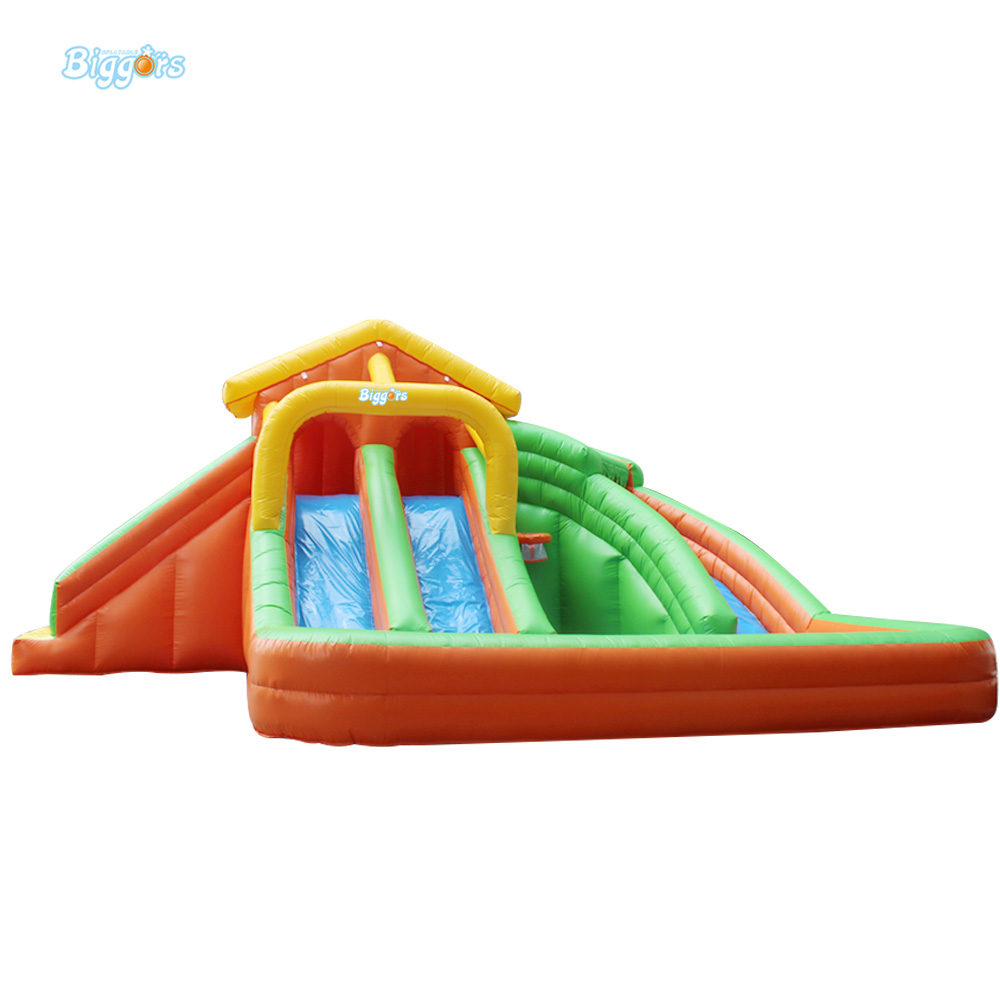 Inflatable Biggors Commercial Grade Inflatable Pool Slide For Kids And Adults commercial grade inflatable water game park inflatables double slide with pool for kids and adult on sale