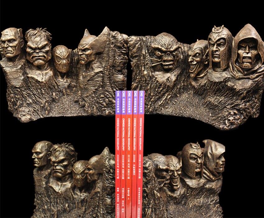 [Nouveau] 17cm les Avengers heros mémorial Hulk Spiderman Thor Captain America figurine en résine statue jouets Collection modèles étagères