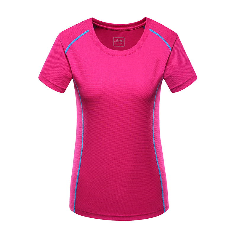 High elastic Women Outdoor sports T-shirt anti-ultraviolet running Hiking Quick dry T-shirt couple breathable t-shirts